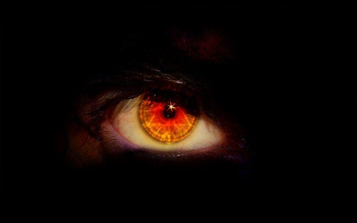 pandangan mata panahan iblis