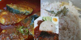 nasi lemak ikan aya